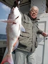Photo: やったぜー!本日一番のサイズ! 真鯛4kgかな?