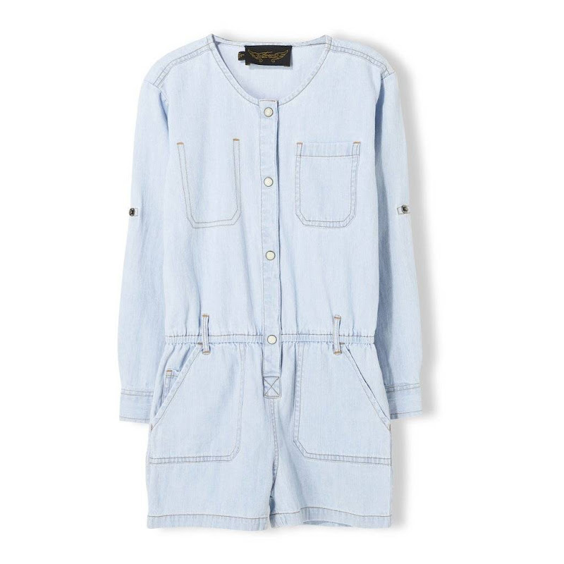 Roslyn Bleached Blue Overall