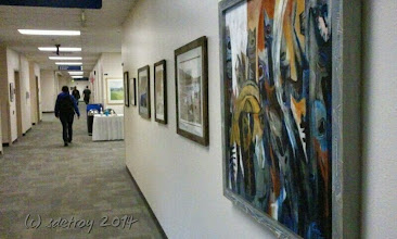 Photo: Grateful to have work in designing and installing art.