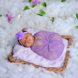 Sleep with flower by Dedi Triyanto  - Babies & Children Babies