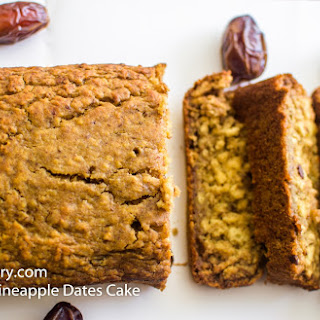 Sugar Free Pineapple Dates Cake