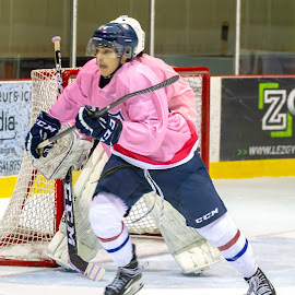 Tongue by Yves Sansoucy - Sports & Fitness Ice hockey ( hockey, game, pink, tongue, ice, stick, skate, player )