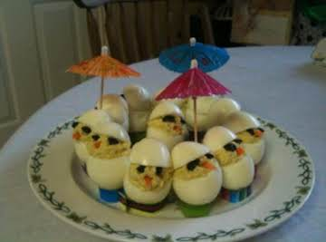 CHICKIE Deviled Eggs - Chickies for Easter