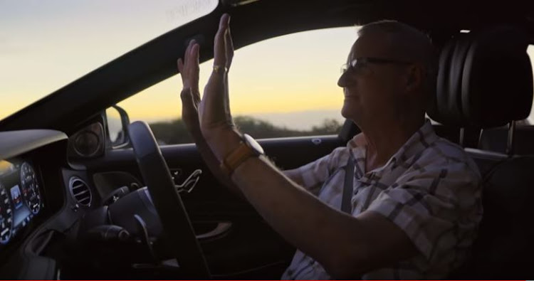 watch | chapman's peak survivor returns to bends in a self-driving benz