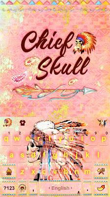 Chief Skull Emoji KikaKeybaord - screenshot
