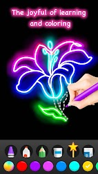 Learn To Draw Glow Flower APK screenshot thumbnail 7