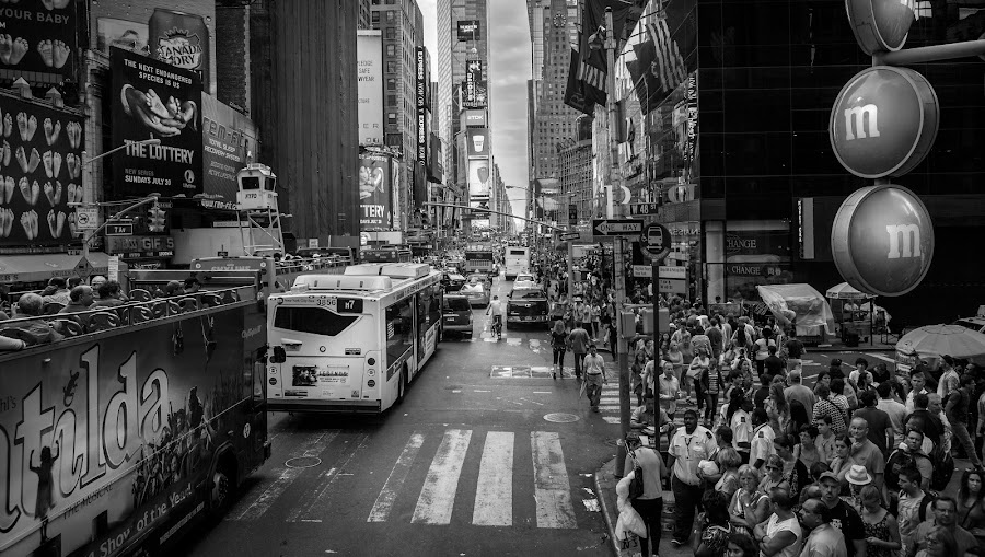 The Longest Street by Maths Karlsson - City,  Street & Park  Street Scenes