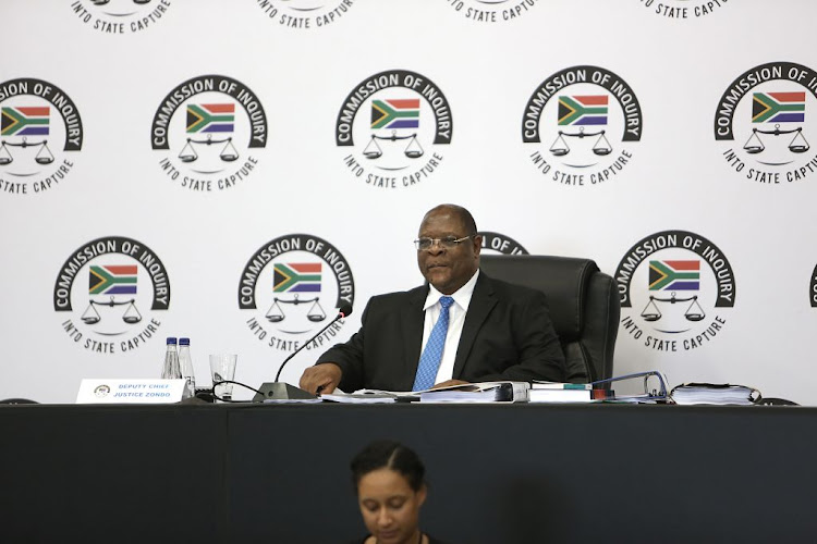 Deputy Chief Justice Raymond Zondo during the state capture inquiry in Parktown, Johannesburg, on September 6 2018.