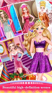 Dress up sweet princess-Fashion Beauty salon games - náhled