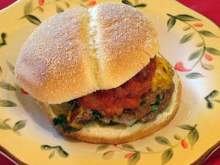 Taco Spinach Burgers With Homemade Picante Sauce Recipe