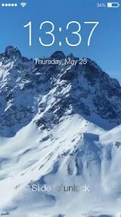 Winter Frost Snowfall Screenlock – PIN Lock Screen - náhled