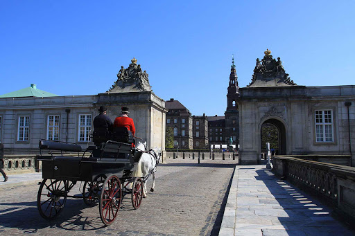 Take a romantic carriage ride through the streets of Copenhagen, Denmark.