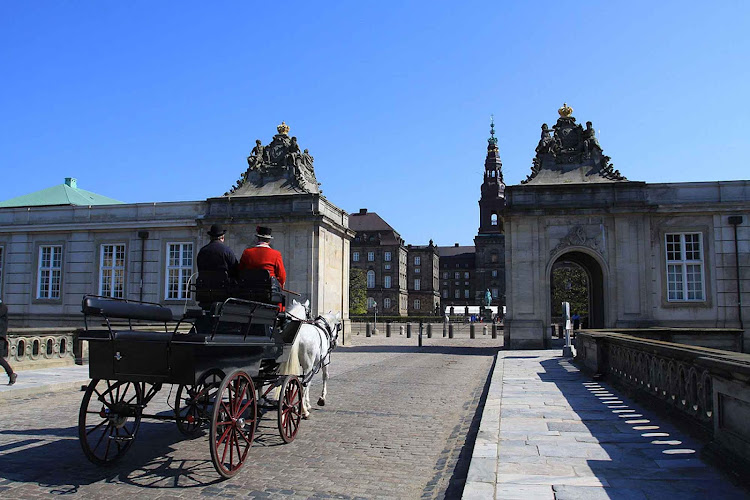 Take a romantic carriage ride through the streets of Copenhagen, Denmark.
