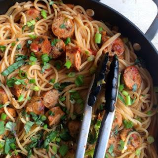 Weeknight Spaghetti With Chicken Sausage