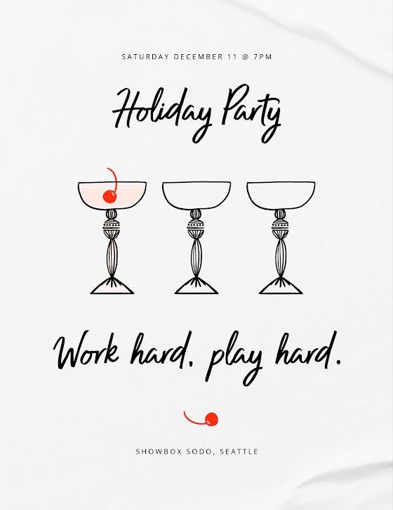 Work Hard Play Hard - Flyer Template