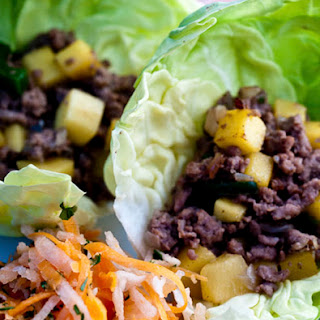 Tropical Tacos with Jicama Slaw