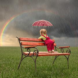 I love watching the rain by Caras Ionut - Digital Art People ( tutorial, photoshop )