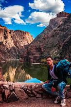 Photo: Daniele at the Colorado River at the Bottom of the Grand Canyon Nation Park, Arizona, USA