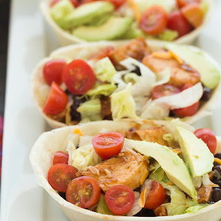 BBQ Chicken Taco Bowls + VIDEO + GIVEAWAY (stovetop, slow cooker or Instant Pot).