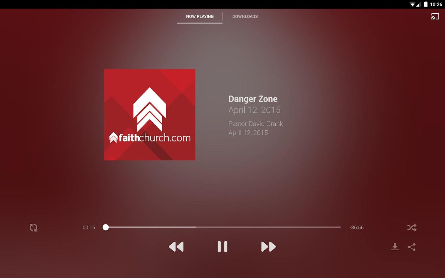 FaithChurch.com- screenshot