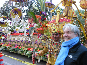 Photo: Pasadena Rose Parade 2013 Charter person on the Indonesia Float