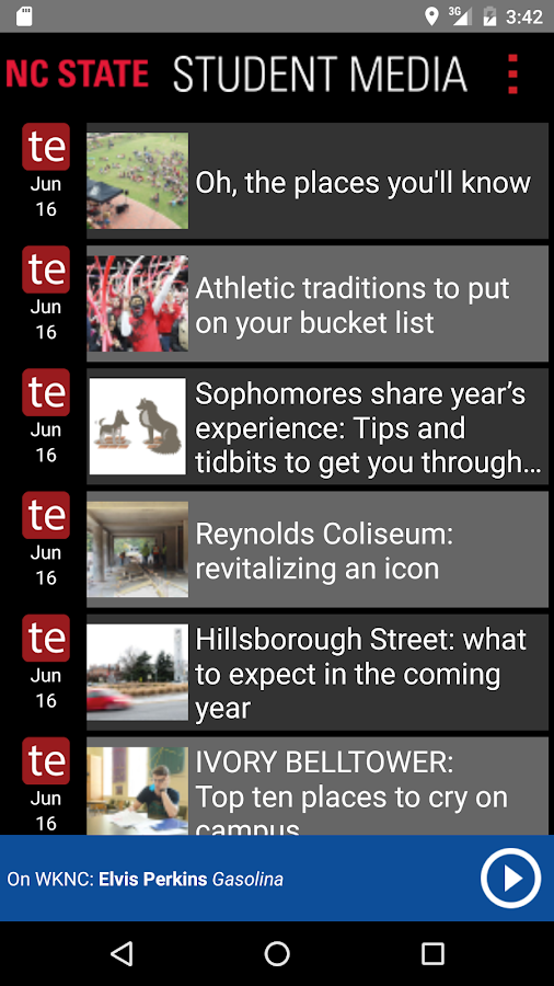 NCSU Student Media- screenshot