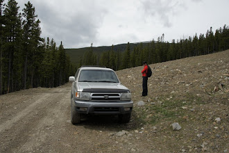 Photo: This is where I parked.  From there I basically went straight up towards the summit.