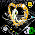 R Letter Love 3D Theme 💖 icon