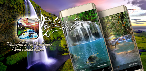 Waterfall Live Wallpaper With Sound Effect