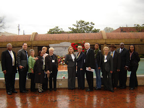 Photo: LA Delegation reciting Kaddish (Jewish prayer for the dead) at the gravesite of Dr. Martin Luther King, Jr.