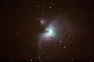 Photo: Single image of the Orion Nebula taken 1/4/13.