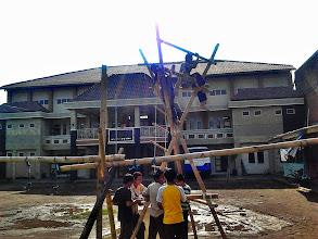 Photo: Latihan Buat Menara Pandang