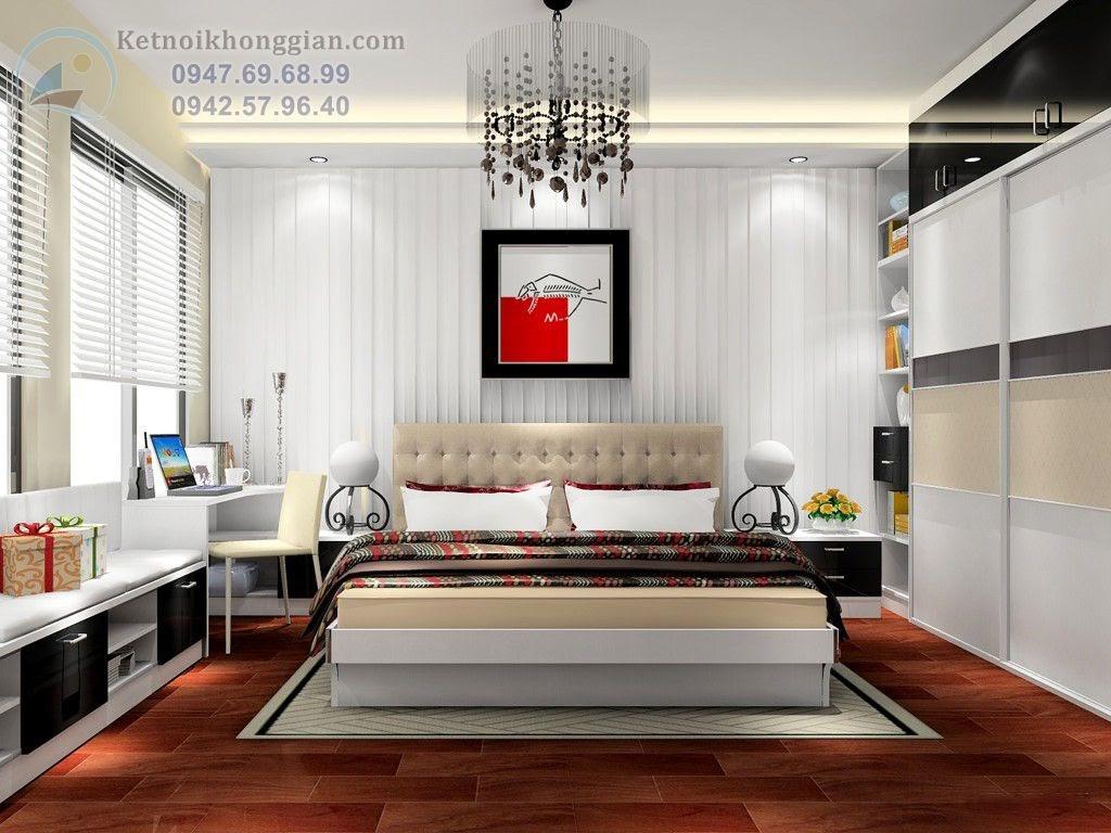 thiết kế phòng ngủ kết hợp phòng đọc sách tiện nghi
