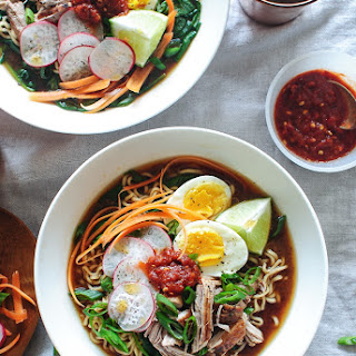 Pork Ramen Noodle Bowls