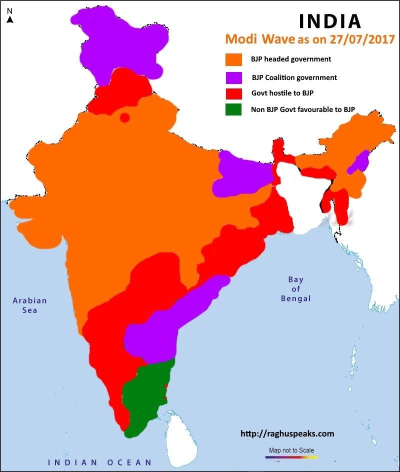 Modi wave in india infographic