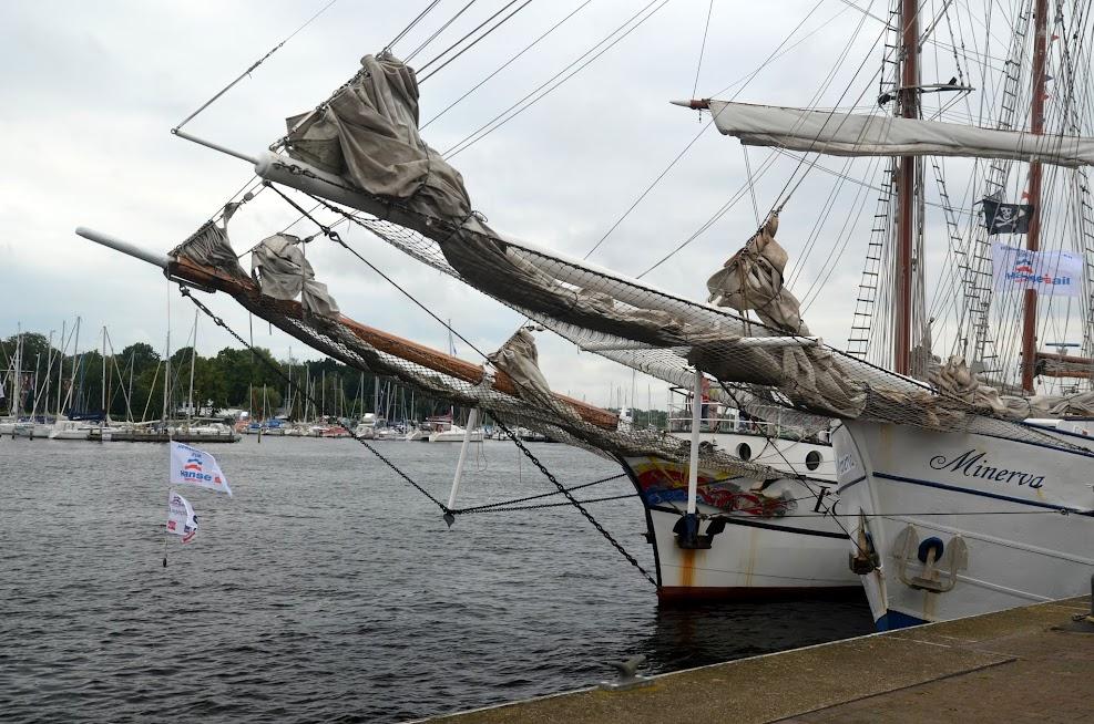 HanseSail 2017 - Segelschiffe in Rostock im Stadthafen