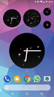 Space Watchface and Widget - náhled