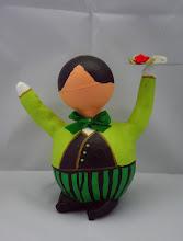 """Photo: """"Kerst Butler"""" groen"""