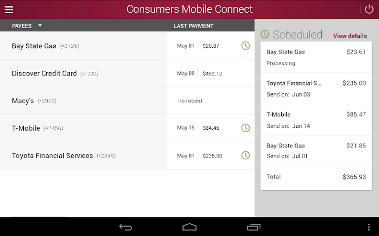 android Consumers National Bank Screenshot 8