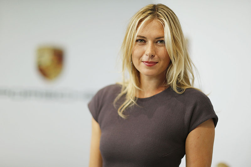 Famous Russian tennis player Maria Sharapova: