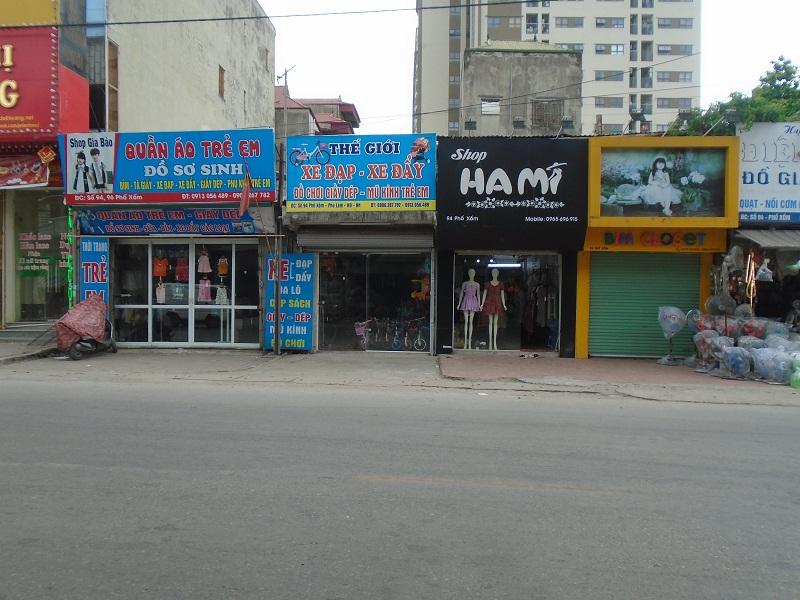 Nhu cầu sang nhượng cửa hàng tại Hà Đông