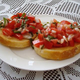 Italian Bruschetta.