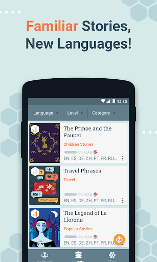 Beelinguapp: Learn Languages Music & Audiobooks screenshots 7