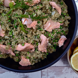 Smoked Trout with Garlic and Dill Quinoa