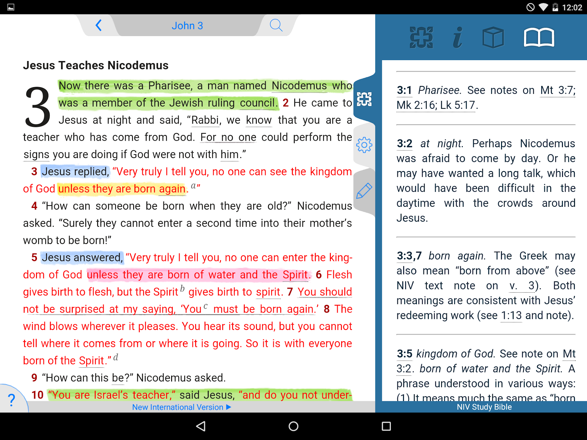 NIV Study Bible screenshot #13