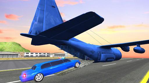 Coche de limusina de la policía estadounidense: capturas de pantalla del juego ATV Quad Transporter 3