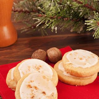 Eggnog Cookies With Rum Icing