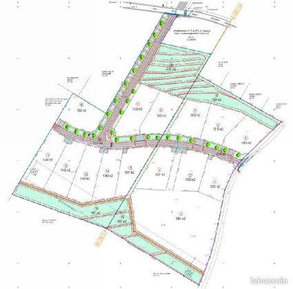 Vente terrain à bâtir 1018 m2