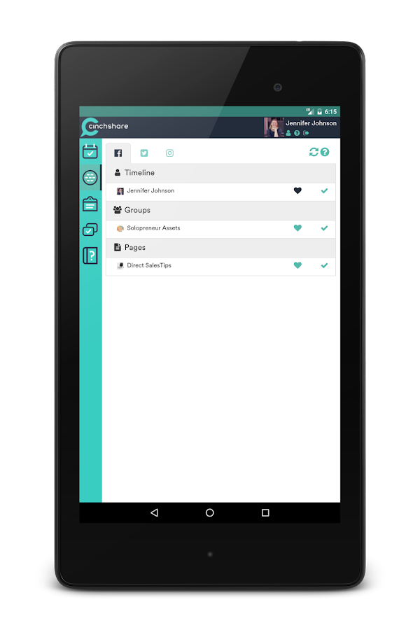 CinchShare- screenshot