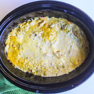 White Chicken Crockpot Enchiladas